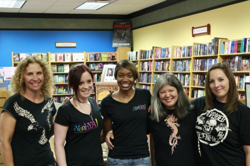 Karen Ann Hopkins, Aimee Carter, Shannon, Julie, myself