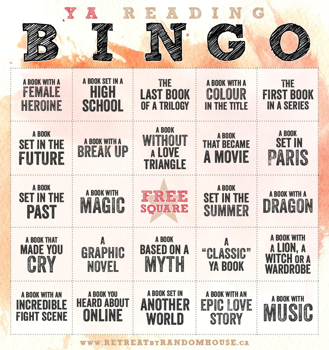 ya reading bingo