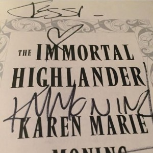 immortal highlander signed