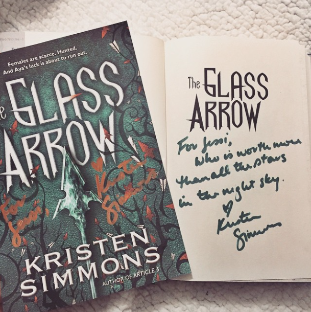 glass arrow signed