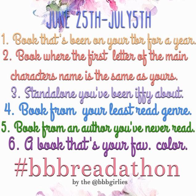 #bbbreadathon challenges