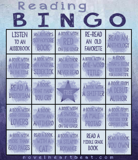 reading bingo NH progress