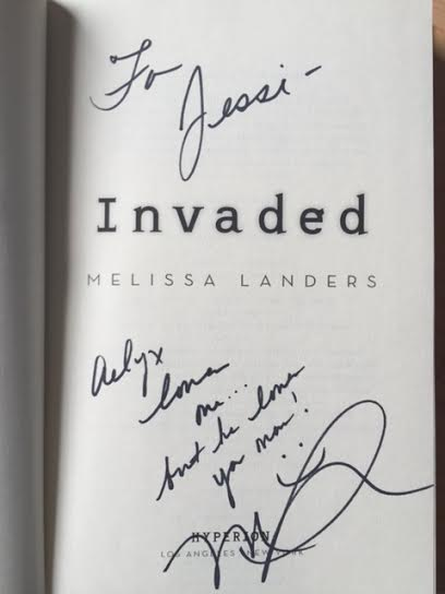 invaded melissa landers signed