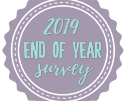 2019 End of Year Book Survey + Reading Stats