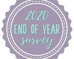2020 End of Year Book Survey + Reading Stats
